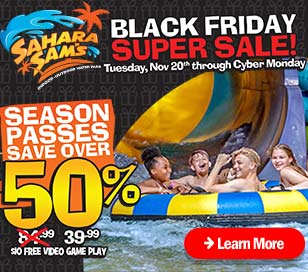 Our annual Black Friday SUPER Sale is all week-long this year! Online only - save over 50% on season passes! Season passes include unlimited visits for the remainder of 2018 and all of 2019 + come with super awesome perks. We're also doing FREE bonus value on gift cards.