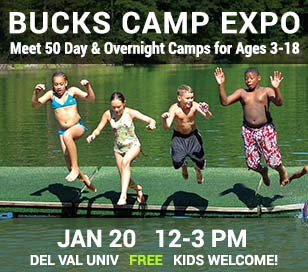 Bucks County's favorite summer camp fair for nearly 20 years! Come meet more than 50 camp directors and find the right camp for your family - featuring day and overnight camps, traditional and special interest camps (arts, sports, STEM and more), teen travel and adventure programs and camps for children with special needs. January 20, 2018. Children welcome. FREE ADMISSION, FREE PARKING.
