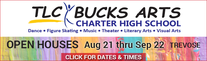 TLC Arts plans to open TLC Bucks Arts Charter High School in the 2019-2020 school year. The lower Bucks County school will creative students from Bucks County and surrounding areas. Join us at one of 8 open house information sessions at our charter school site, 1000 Northbrook Drive, in Trevose. (Aug. 21, Sept. 11, or Sept. 18 at 7 p.m.; Aug. 26, Sept. 9, or Sept. 16 at 2 p.m.; Sept. 22 at either 1 p.m. or 3 p.m.) About our school: The TLC Bucks Arts Charter High School will provide a unique environment that nurtures creative academics, while employing individualized artistic instruction and developing a student's talent in the arts. This integrative experience will inspire students to be confident in their own uniqueness and ability to accomplish their life goals. What sets us apart is the fact that half of the school day will be devoted to the student's artistic major. This means, for example, that a Junior would have 3 academic subjects in the morning and 3 periods in their respective major in the afternoon. As an example, a dancer will end up having over 500 hours of professional training each year, for a total of over 2,000 hours after four years in the school. We offer majors in the following areas: Dance, Visual and Graphic Arts, Creative Writing and Journalism, Figure Skating, Vocal Music, Instrumental Music, Theatre, or Musical Theatre.